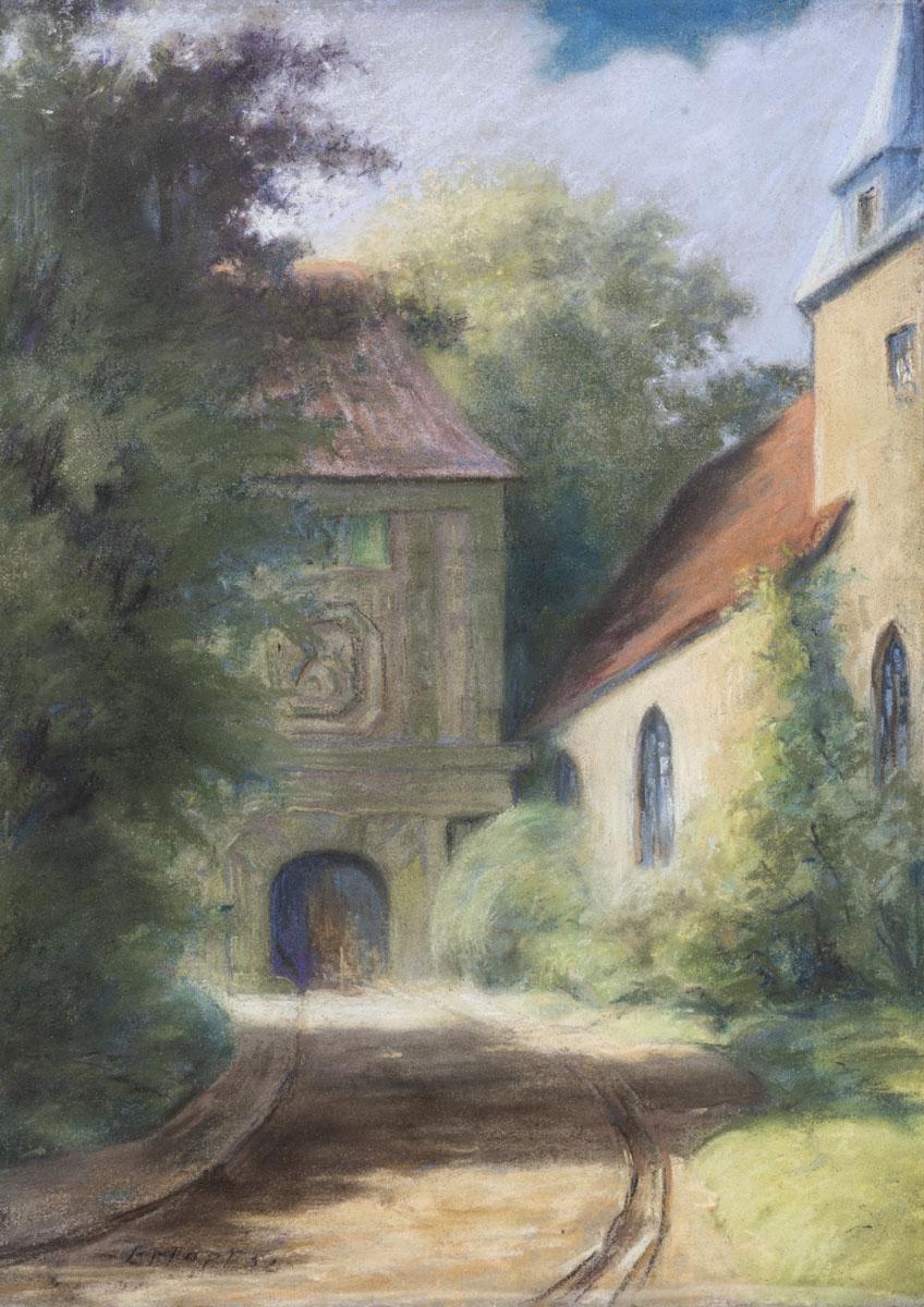 Schloss Bentheim - Oberes Burgtor und Katharinenkirche