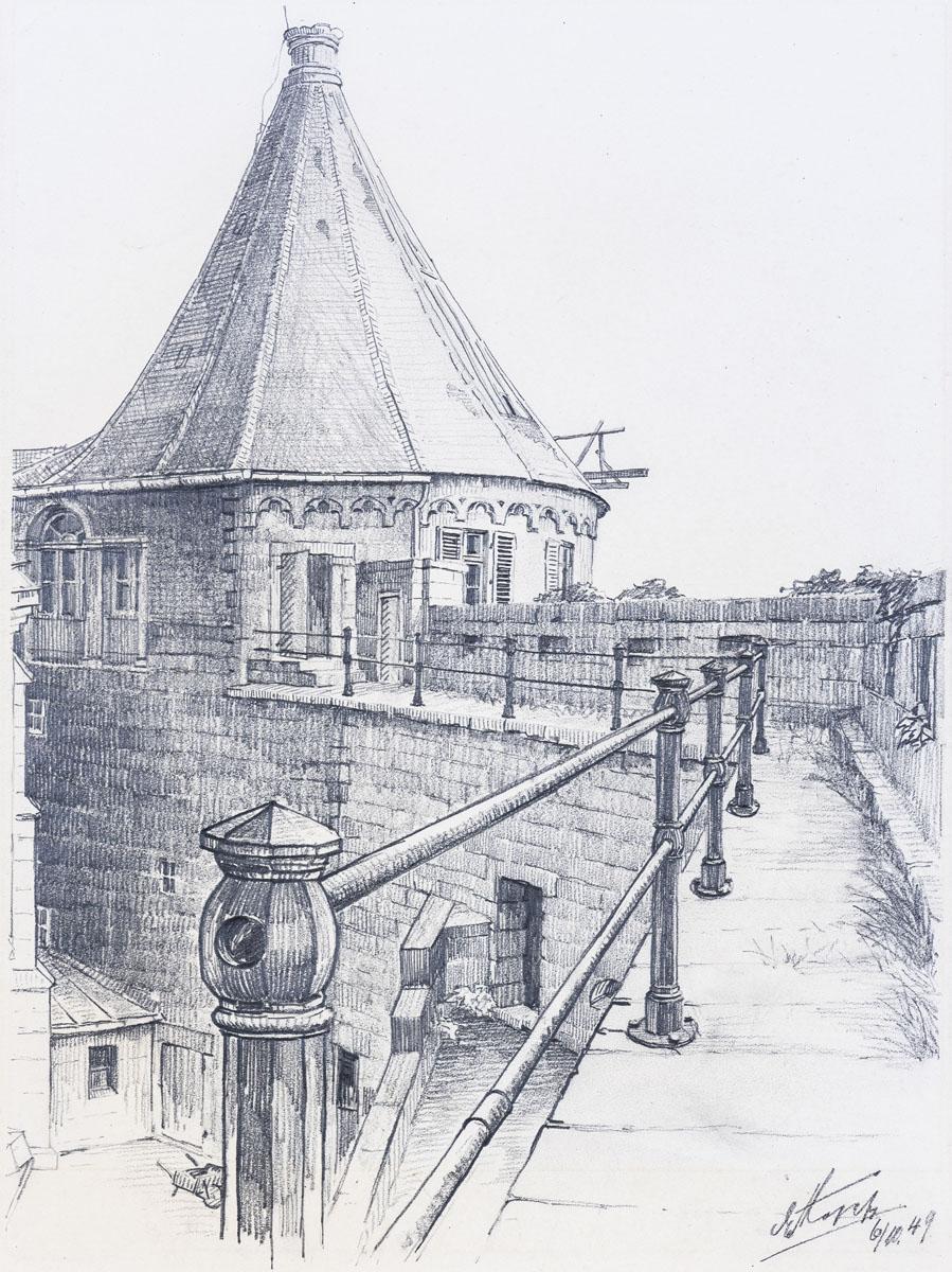 Schloss Bentheim - Wehrgang und Runder Turm