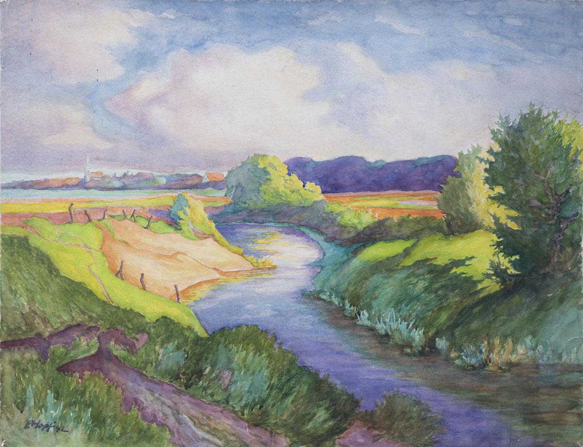 Vechte-Landschaft und Nordhorn
